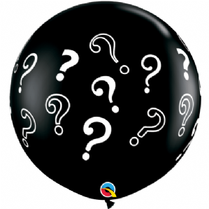 Gender Reveal Balloons | 3ft Question Marks Balloon | Free Delivery available